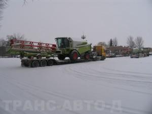 Перевозка-комбайна-Claas-Tucano-440-Украина-Молдова
