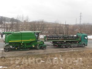Перевозка-комбайна-Джон-Дир-S690i-Германия-Украина-