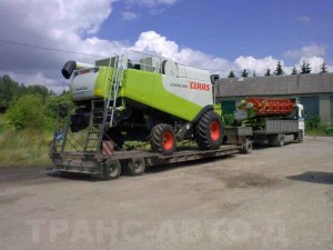 Перевозка-комбайна-Claas-Lexion-580-Украина-