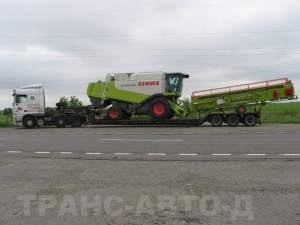 Перевозка-комбайна-Claas-Lexion-560-Украина